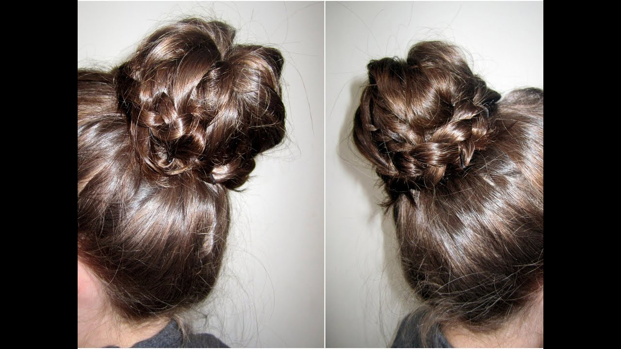 How To | Braided Tip Sock Bun - YouTube