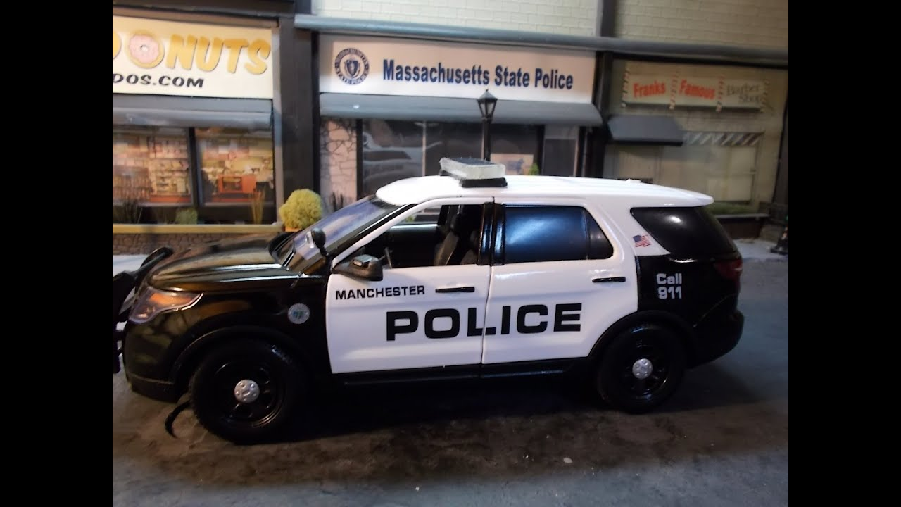 Manchester NH Police 1/18 scale with working lights - YouTube