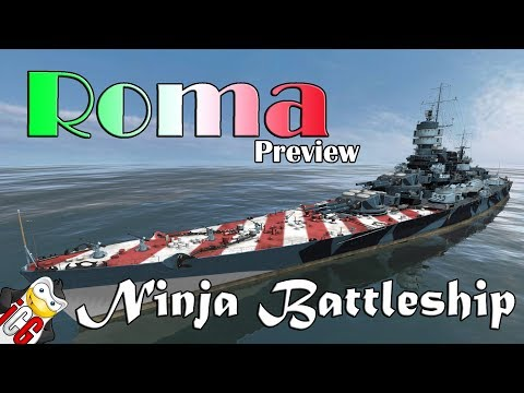 World of Warships - Roma Preview - Potential Ninja Battleship [DATAMINE]