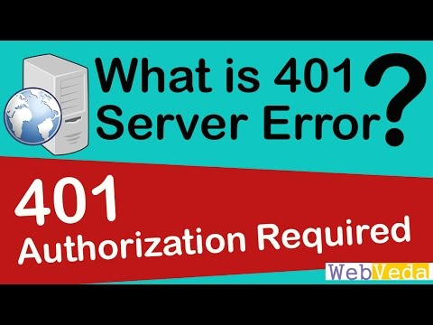 What is 401 Authorization Required Error