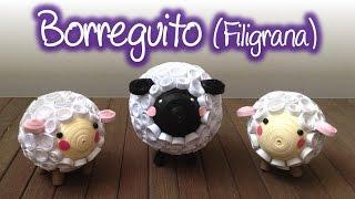 Borreguito de filigrana , Quilling lamb
