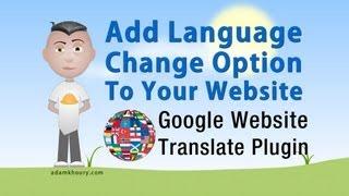 Website Language Translator Google Plugin Tutorial Add Code and Style
