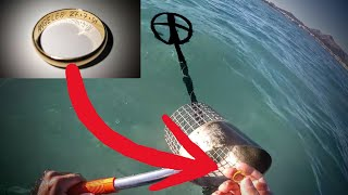 Finding Gold underwater metaldetecting on Mallorca!! - XP Deus - Rings and Cash