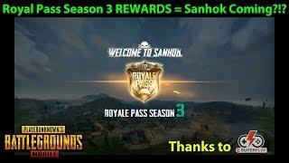 SEASON 3 Royal Pass Rewards = SANHOK Map Coming SOON?!?  | PUBG Mobile with DerekG