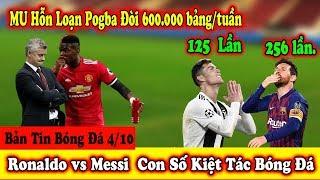 ????Bản Tin Bóng Đá 8/10: M U Hỗ Loạn Dấu Chấm Hết Cho Solskjaer | Ronaldo vs Messi Đua Danh hiệu ...