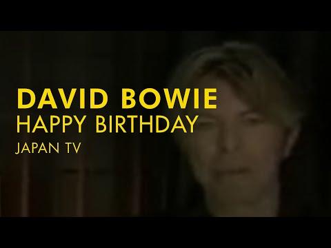 David Bowie Happy Birthday Jp Tv Youtube