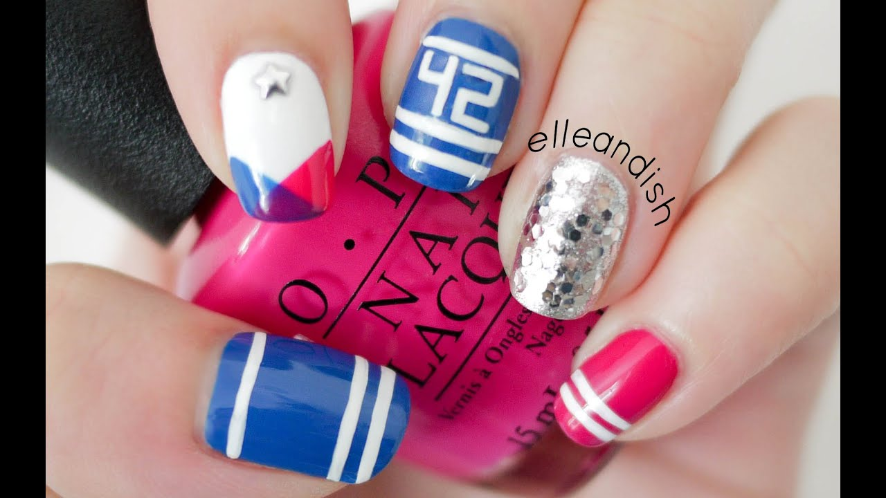 Sporty School Spirit Nails! Represent your favorite Sports Team ...