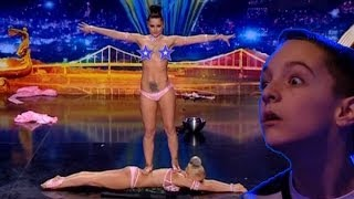 Sexual power acrobatics from the duo Wild girls - Ukraine's got talent