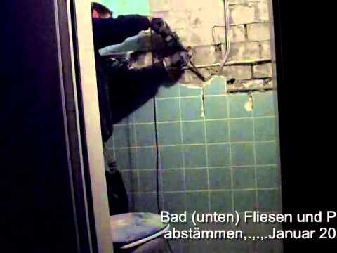 bad unten fliesen und putz abst mmen januar 2012 youtube. Black Bedroom Furniture Sets. Home Design Ideas