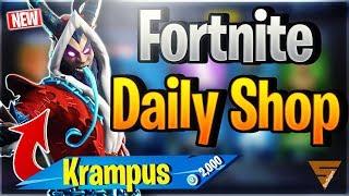 Fortnite Daily Shop 'NEW' KRAMPUS SKIN - FROZEN LEGENDS (24 décembre 2018)