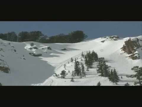 Snowmobile sets off avalanche!