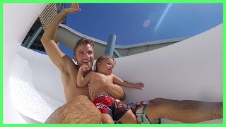 BABY'S FIRST WATER SLIDE! | GOPRO