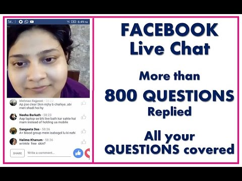 FACEBOOK Live Chat, More than 800 questions Replied, ALL You