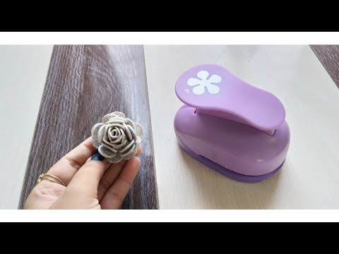 78: DIY || Making Flower ||Craft Punch ||Divya's art gallary