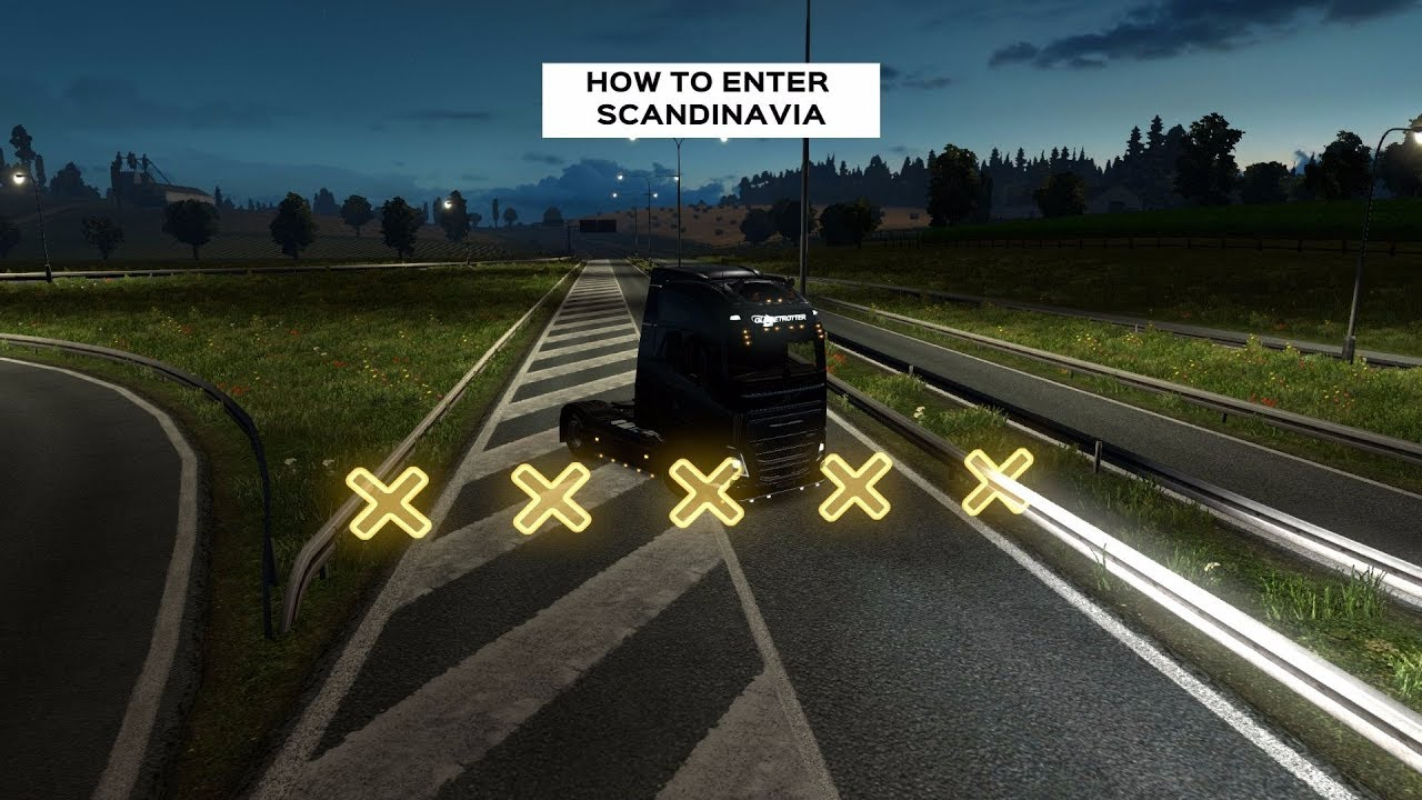HOW TO ENTER SCANDINAVIA WITHOUT DLC | Euro Truck Simulator 2