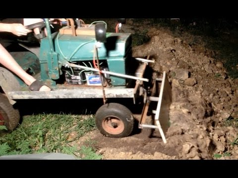 Diy Electric Lawn Tractor Part 10 Front Loader Tool Youtube