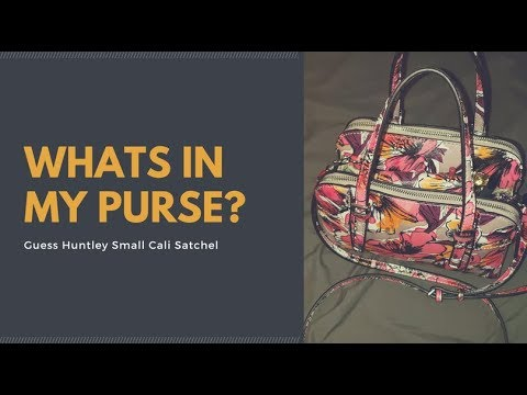 Whats in my Guess Huntley Crossbody - YouTube fd7901dff86b4