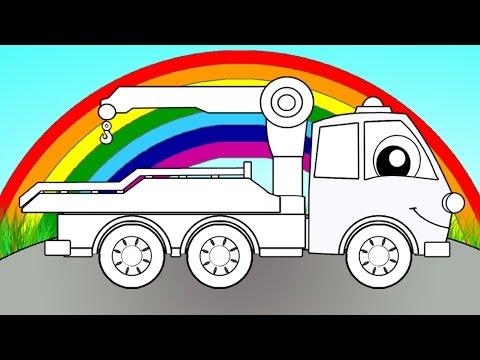 Мультфильмы про машинки - Эвакуатор - мультик раскраска - Волшебная Радуга