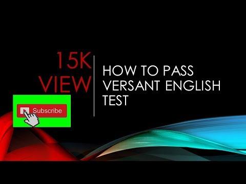How To Pass Versant English Test? 100%Success.