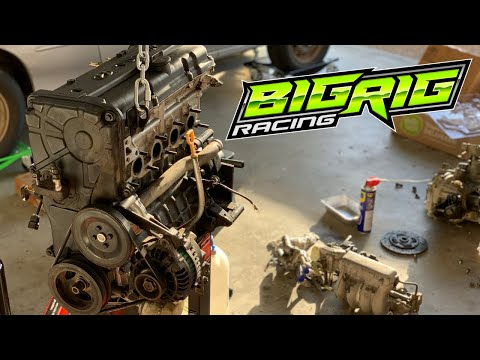 Hyundai Excel Race Car Build [#10] = Placing This Engine On A Diet