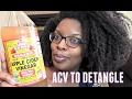 Detangle with Apple Cider Vinegar