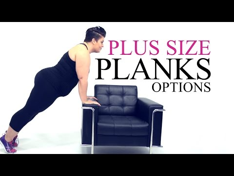 Plank Exercise Modification - plus size - workout - episode 4