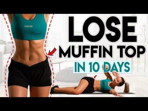 LOSE MUFFIN TOP FAT in 10 Days (love handles) | 10 minute Home Workout