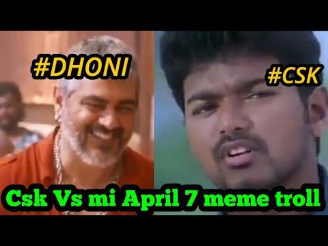 Csk Vs mi April 7 ipl 2018 |1st T20 | csk...