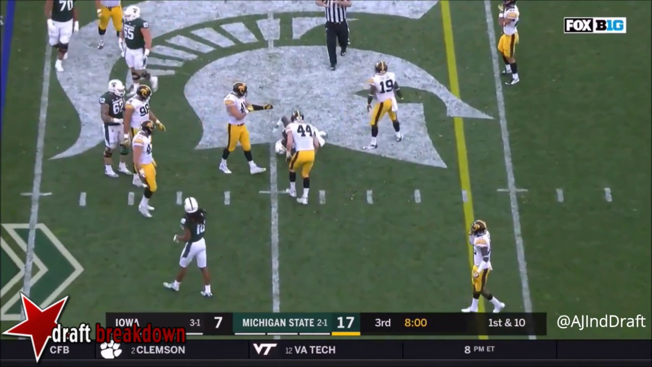 ae0c7917f Joshua Jackson (Iowa) CB vs Michigan State 2017 - YouTube