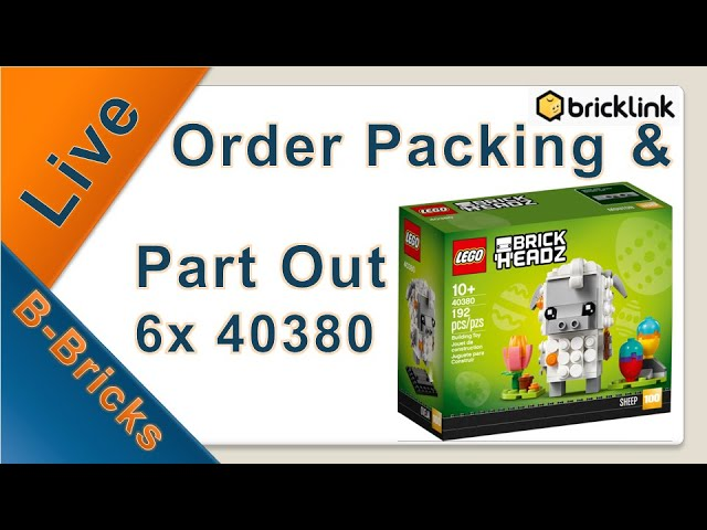 Live🔴 Order Packing #02 & PartOut 6x Lego 40380