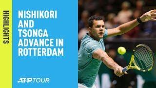 Highlights: Nishikori, Tsonga Advance On Thursday In Rotterdam 2019