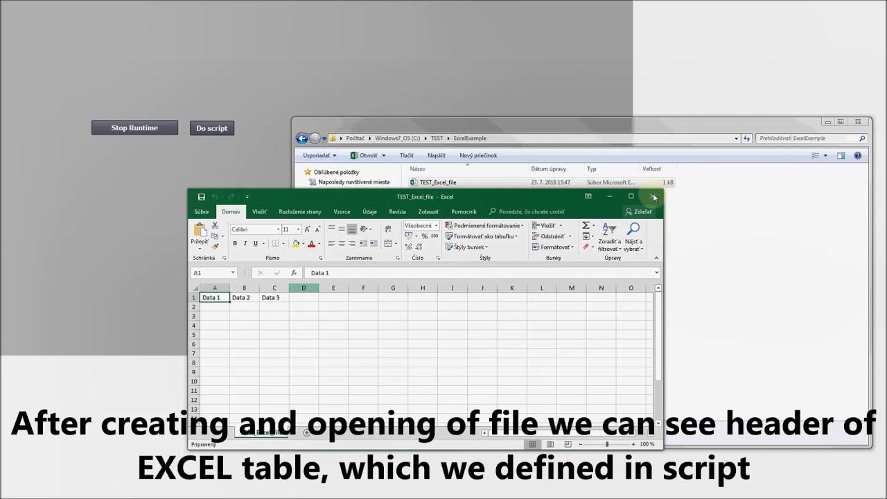 Siemens TIA Portal HMI tutorial - Create/Write to EXCEL file from WinCC RT  (HMI RT)