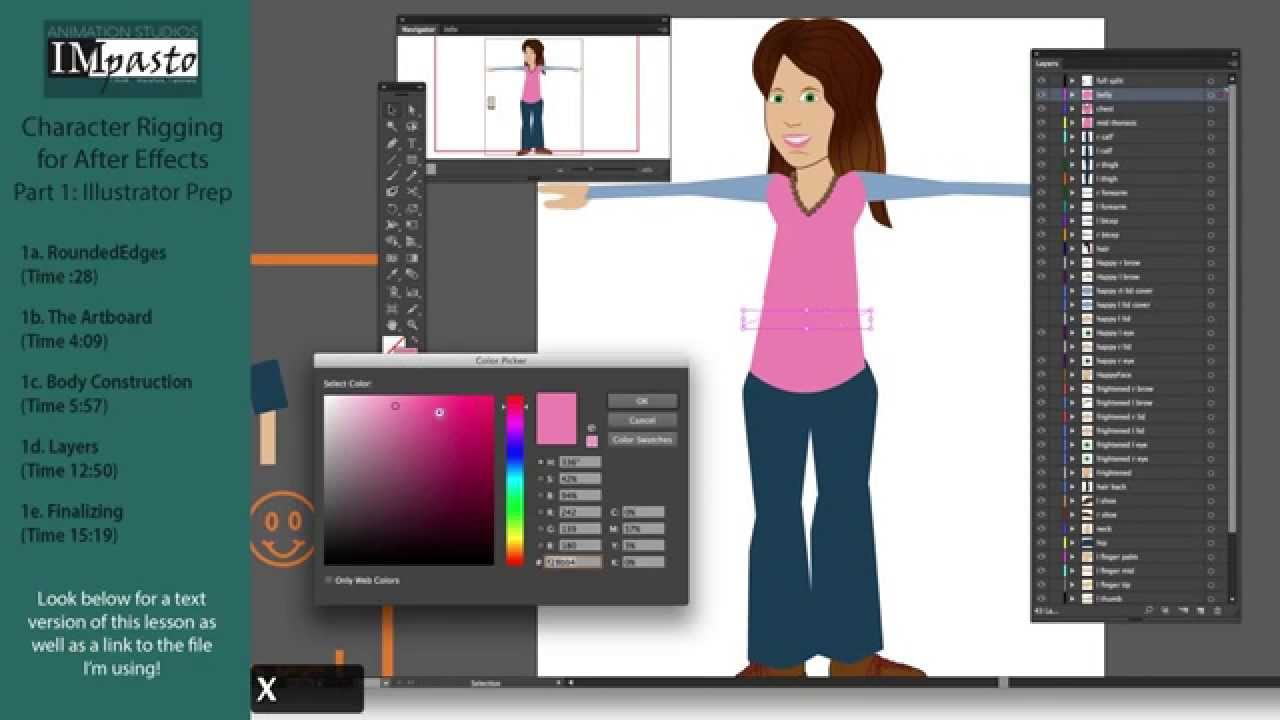 After Effects Character Rigging Part 1 - Illustrator Preparation
