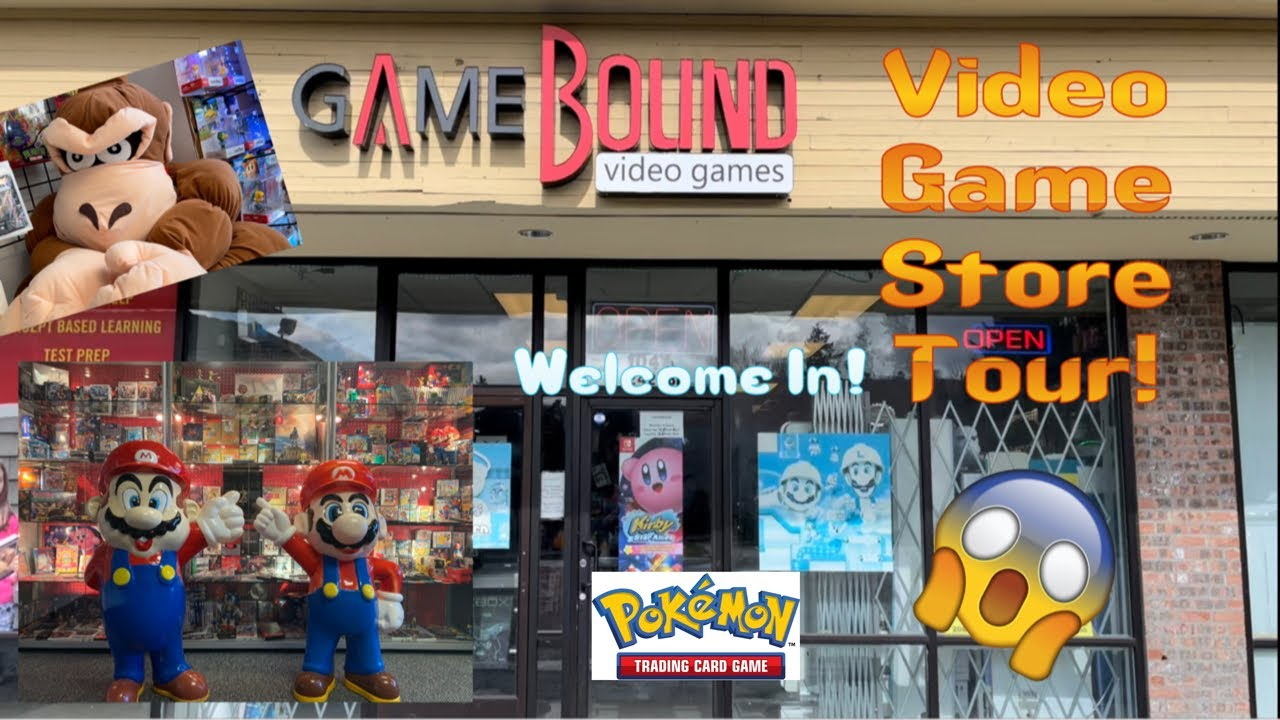 Retro Video Game Store Tour! Factory Sealed \u0026 Rare Games, Pokémon cards, and Collection Cases