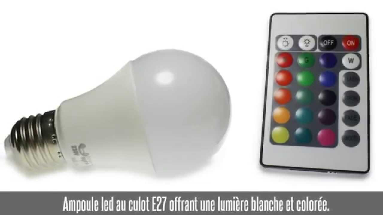 Ampoule Led E27 3w 7w Blanc Chaud Rgb Youtube
