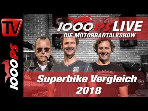 1000PS Live - Die Motorradtalkshow - Superbike Vergleich 2018
