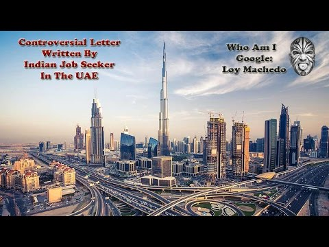 Controversial Letter Written By Indian Job Seeker In The UAE
