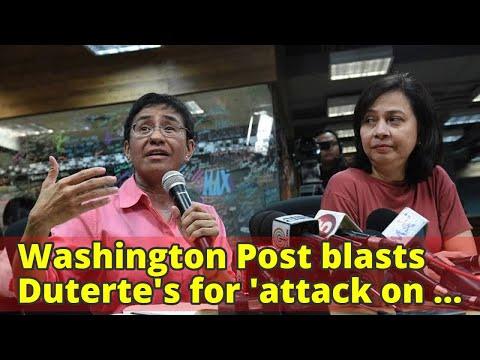 Washington Post blasts Duterte's for 'attack on press freedom'