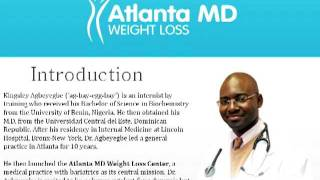 Atlanta MD Weight Loss - About Dr. Agbeyegbe