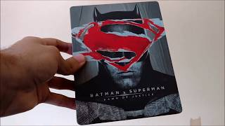 Quick Unboxing - Batman v Superman: Dawn of Justice (Blu-ray + DVD) - Best Buy Exclusive Steelbook(A quick look at the Best Buy Exclusive Blu-ray + DVD Steelbook for Batman v Superman: Dawn of Justice. Release Date: July 19th, 2016., 2016-07-18T17:43:45.000Z)