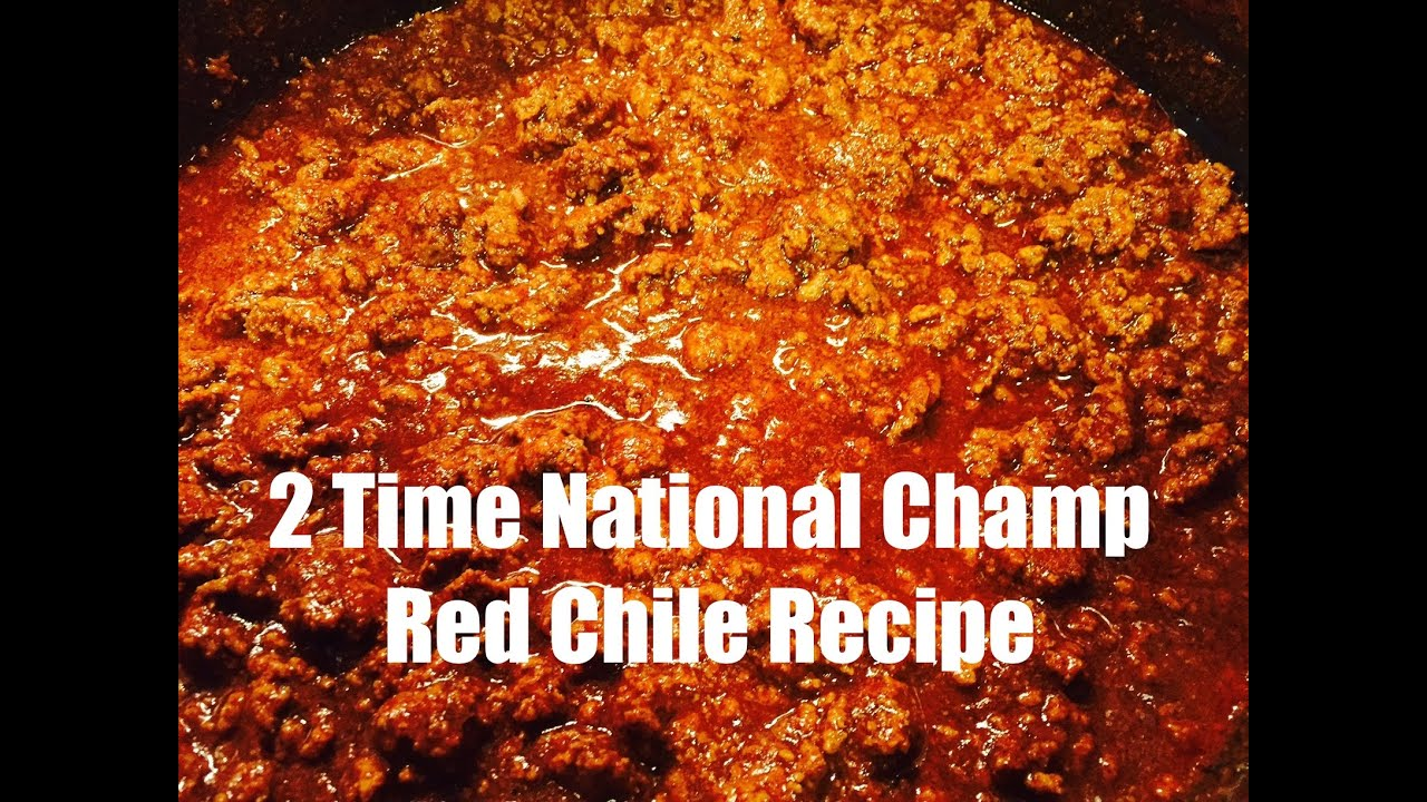 2005 2009 National Champion Red Chili Recipe How To Make A Red Chili Youtube