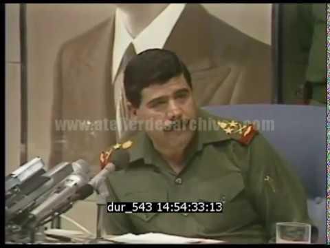 Conférence de presse du ministre de la défense irakien