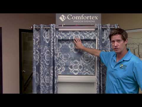 Simplicity Power Touch Motorized Roman Shade by Comfortex