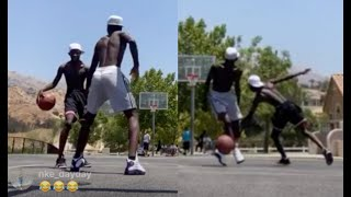 Quando Rondo Gets His Ankles Broke By Rolling 60's Crip 🏀Quits In Middle Of Basketball Game