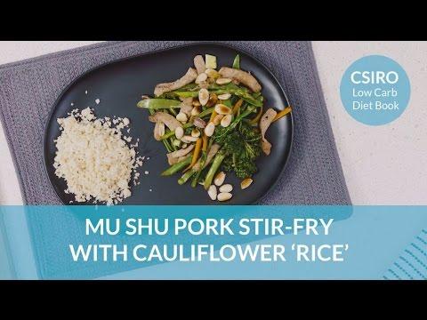 CSIRO Low-Carb Diet: Mu shu pork stir-fry with cauliflower 'rice'