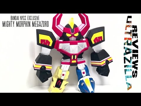 BANDAI NYCC EXCLUSIVE MIGHTY MORPHIN MEGAZORD REVIEW!