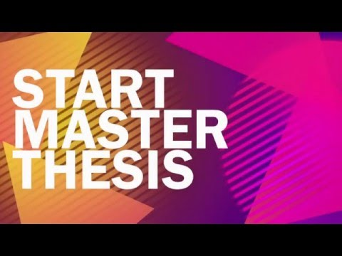 How to Start your Master Thesis! Easy Five Steps!