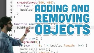 7.4: Adding and Removing Objects - p5.js Tutorial