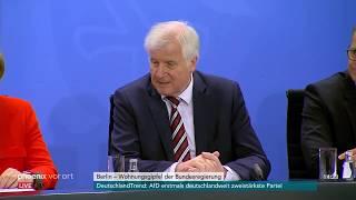 Pressekonferenz nach Wohngipfel der Bundesregierung am 21.09.18