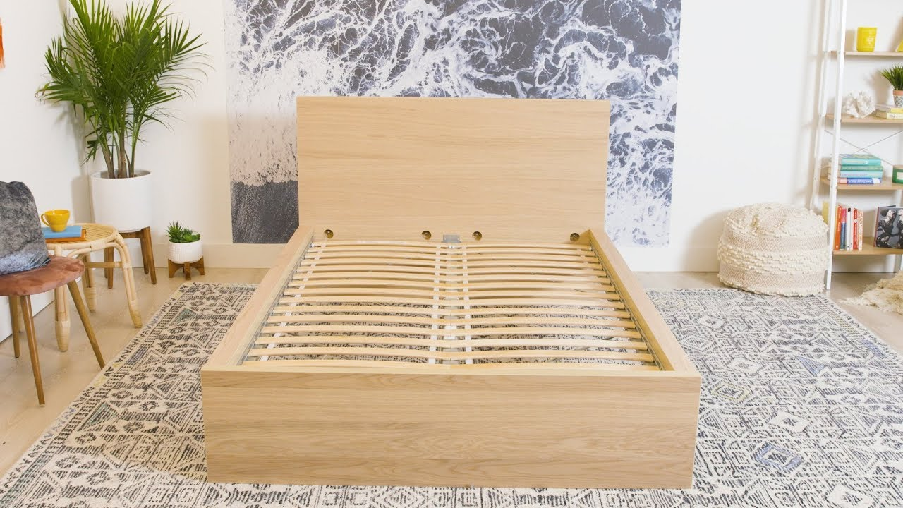 Make A Bed Frame With Storage